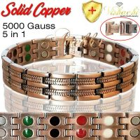 COPPER MAGNETIC BRACELET PURE SOLID VISHACHI THERAPY MEN WOMEN ARTHRITIS PC11