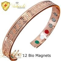 COPPER MAGNETIC BANGLE BRACELET SOLID PURE, 12 BIO WOMEN ARTHRITIS CB21