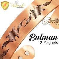 COPPER MAGNETIC BANGLE BRACELET, SOLID & PURE, CHUNKY BATMAN ARTHRITIS CB29