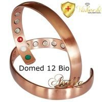 COPPER MAGNETIC BANGLE BRACELET SOLID & PURE, DOMED MAX THERAPY 12 BIO ARTHRITIS CB23V