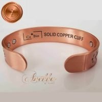 COPPER MAGNETIC BANGLE BRACELET, SOLID & PURE, HORSE END OF TRAIL CB29