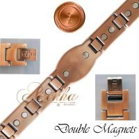 COPPER MAGNETIC BRACELET PURE & SOLID, BIO THERAPY MEN ARTHRITIS VTG PC03V