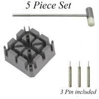 Professional Watch or bracelet adjuster 5 Piece tool set